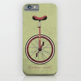 Unicycle iPhone Case