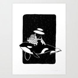 Space orca Art Print