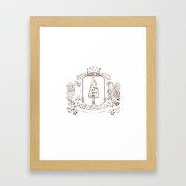 Owl and Hawk Redwood Crown Crest Drawing Framed Art Print