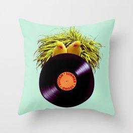 Summer Sound System Throw Pillow