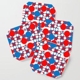 Red White & Blue Patriotic Modern Print Coaster