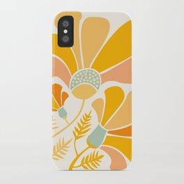 Summer Wildflowers in Golden Yellow iPhone Case