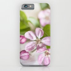 delicate pink Apple Blossom close up Slim Case iPhone 6s