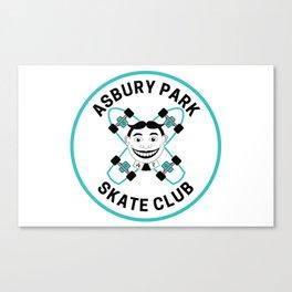 Vintage Asbury Park Skate Club Canvas Print