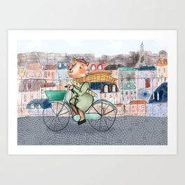 Mathias the french cat Art Print