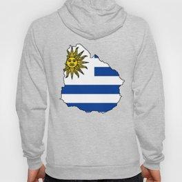 Uruguay Map with Uruguayan Flag Hoody