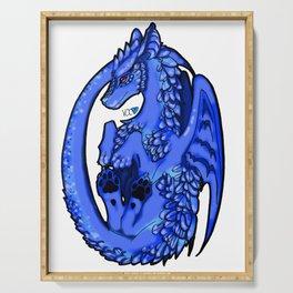 Dragon-Blue Serving Tray