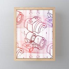 Technical Sketch Framed Mini Art Print