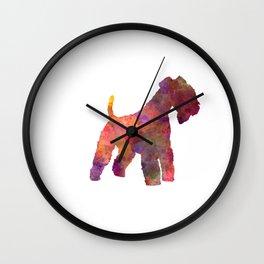 Lakeland Terrier in watercolor Wall Clock
