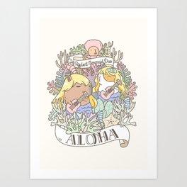 Rodent Mermaid Duo Art Print