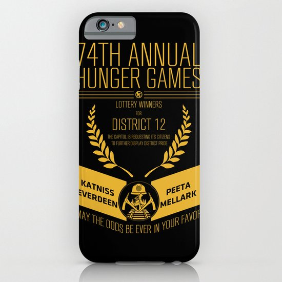 74th annual hunger games poster iPhone & iPod Case