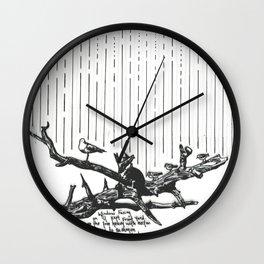 Seagulls in the Rain Wall Clock