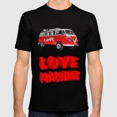 Love Machine  Mens Fitted Tee Black MEDIUM