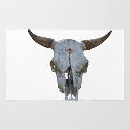 old bull skull Rug