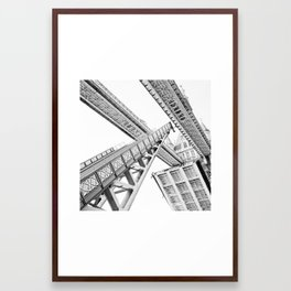 Tower Bridge 02C - Going Up Framed Art Print