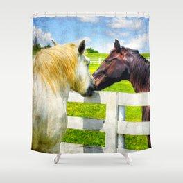 Barn Yard Kisses Shower Curtain