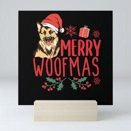 Merry Woofmas Mini Art Print