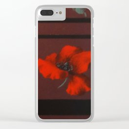Coquelicots Clear iPhone Case