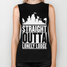 STRAIGHT OUTTA LONELY LODGE T-Shirt Biker Tank