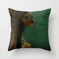 ape Throw Pillows featuring APE by Ersen-T
