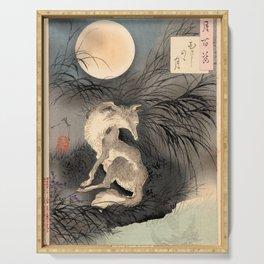 Tsukioka Yoshitoshi - The moon on Musashi Plain Serving Tray