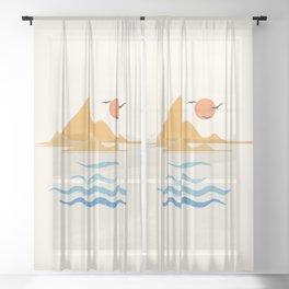 Minimalistic Summer III Sheer Curtain
