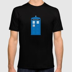 DOCTOR WHO. Black Mens Fitted Tee SMALL