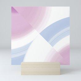 Pastel Circular Color Splash Mini Art Print