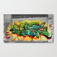 one piece Canvas Prints featuring As One graf piece  by Az One Graffiti