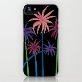 Neon Palms on Black iPhone Case