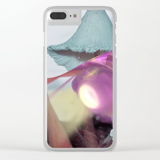 Landing on an alien world Clear iPhone Case