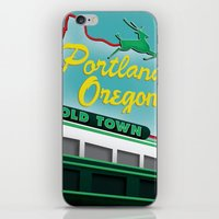 portland iPhone & iPod Skins featuring Portland by Casey Baggz