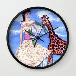 The African Safari Illustration By James Thomas Ryan Wall Clock