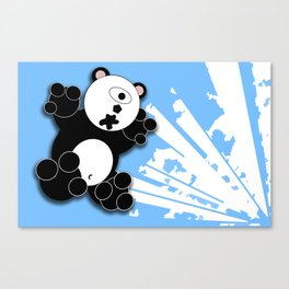 One Eyed Panda - Blue Canvas Print