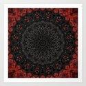 Red and Black Bohemian Mandala Design by artaddiction45