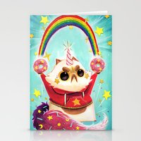 Stationery Cards featuring Donut Power! by Chopsticksroad.