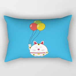 Fat Cat with Balloons Rectangular Pillow
