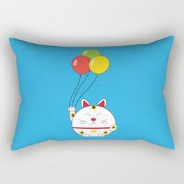 Fat Cat with Balloons Rectangular Pillow