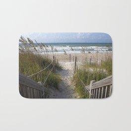 Peaceful Beach Scene Bath Mat