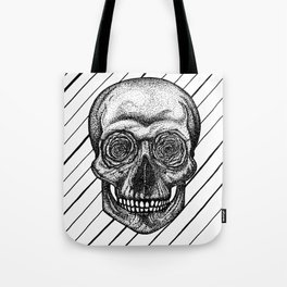 Skull and roses Tote Bag