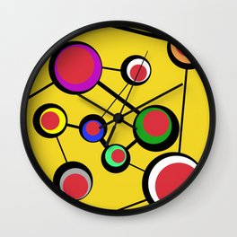 Mid Century Molecules Wall Clock