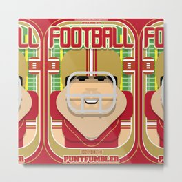American Football Red and Gold - Enzone Puntfumbler - Victor version Metal Print