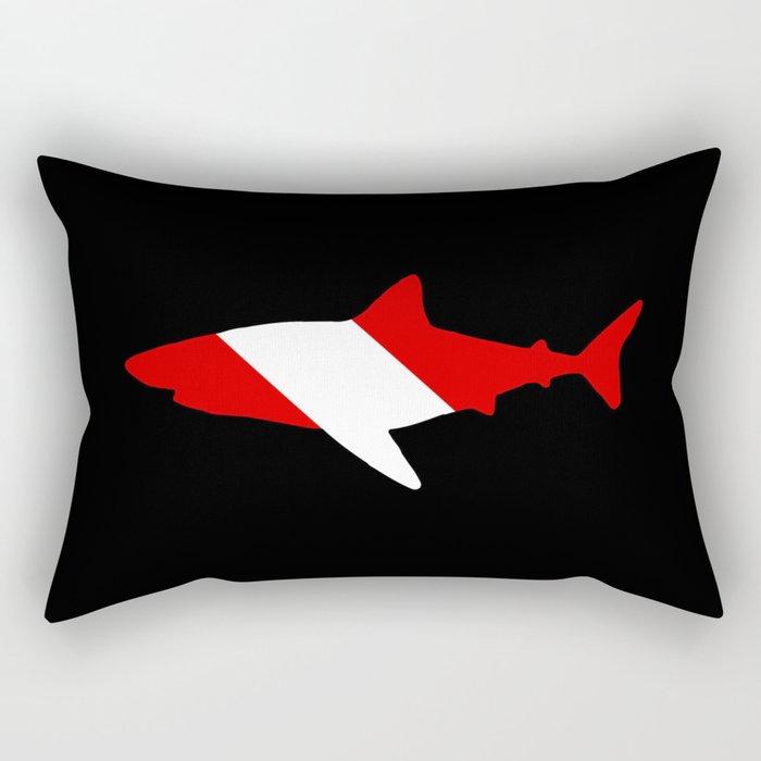 Diving Flag: Shark Rectangular Pillow
