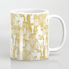 just cattle gold white Coffee Mug