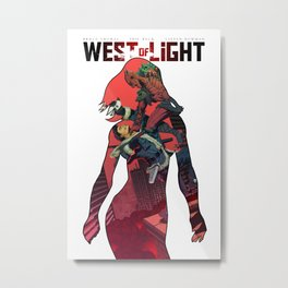 West of Light Metal Print