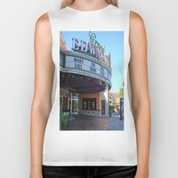 movies Biker Tanks featuring Day at the movies by Debra Slonim Art & Design