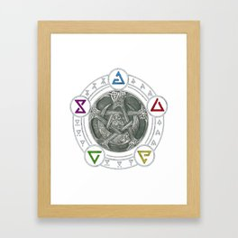 The Witcher Igni Symbol Framed Art Print