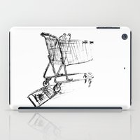 shopping iPad Cases featuring Shopping Cart by Brontosaurus