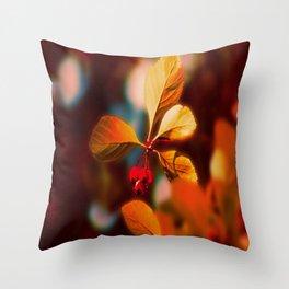 Autumn Berrys Throw Pillow