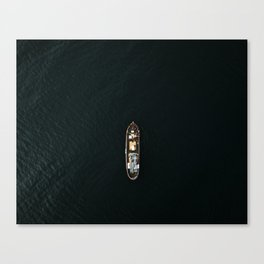 Iceland Ship from Above - Ocean Photography Canvas Print